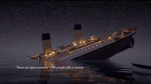 Titanic, animazione 3d ricostruisce l'incidente (Youtube)