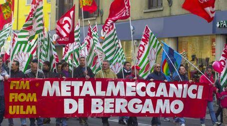 BG//SCIOPERO METALMECCANICI//FOTO DE PASCALE
