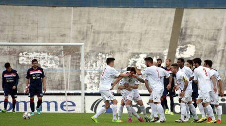esultanza gol 1-2