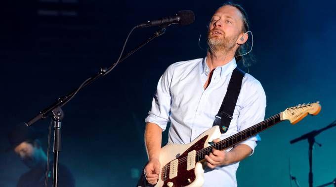 Radiohead, il cantante Thom Yorke (Afp)