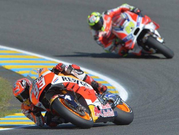 MotoGp Le Mans, le foto più belle di Rossi, Lorenzo e Marquez (AFP)