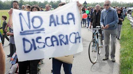 Una manifestazione contro il progetto