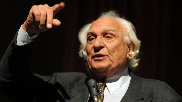 Marco Pannella in una tipica espressione (Lapresse)