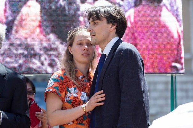 Laura Harth e Matteo Angioli (LaPresse)