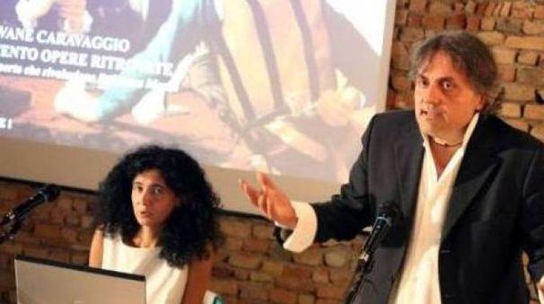 Studiosi Maurizio Bernardelli Curuz e Adriana Conconi Fedrigolli durante una conferenza
