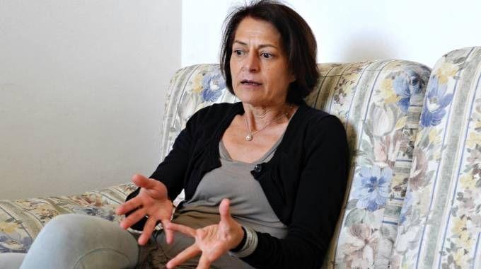 L'infermiera di Piombino Fausta Bonino durante l'intervista (Novi)