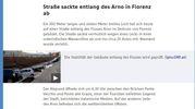 """Voragine lungarno Torrigiani a Firenze,  la notizia sui media internazionali: """"Orf"""""""
