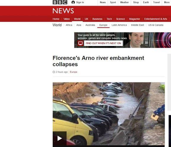 """Voragine lungarno Torrigiani a Firenze,  la notizia sui media internazionali: """"Bbc"""""""