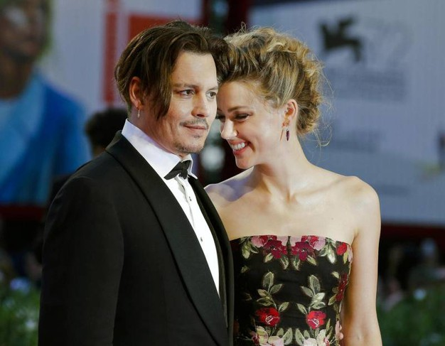 Amber Heard e Johnny Depp (Ansa)