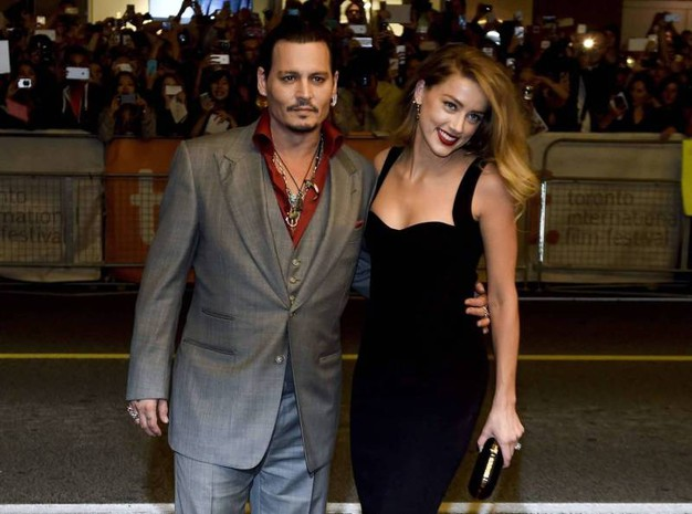 Amber Heard e Johnny Depp (Olycom)
