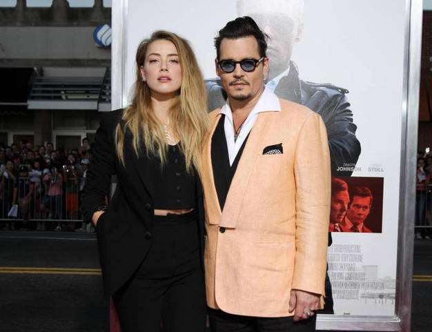 Amber Heard e Johnny Depp (Amsa)