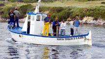 Una barca di pescatori (Foto di repertorio: Enrico Locci/Olycom)