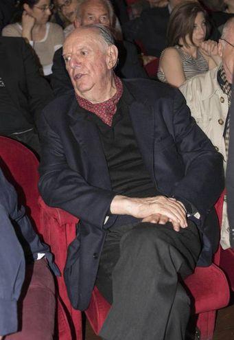 L'omaggio a Giorgio Albertazzi al teatro Argentina di Roma: Dario Fo (foto Ansa)
