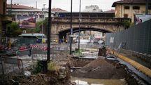 I cantieri della tramvia allo Statuto (Gianluca Moggi/ New Press Photo)