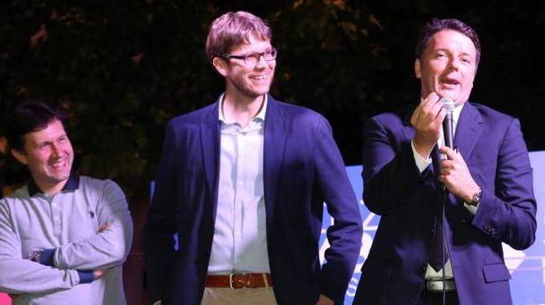 Matteo Renzi con Nardella e Zambini (New Press Photo)