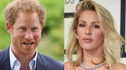 Il principe Harry e la cantante Ellie Goulding (combo)