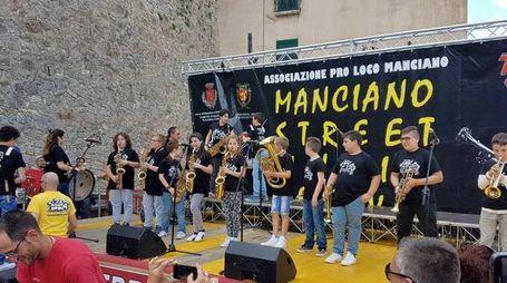 I 15 bambini che hanno partecipato al campus del Manciano Street Music Festival