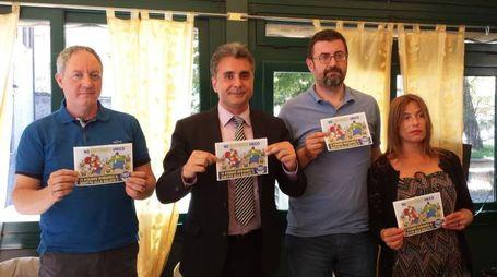 Da sx: Stefano Pollegioni, Antonio Baldelli, Andrea Montalbini, Roberta Castellini