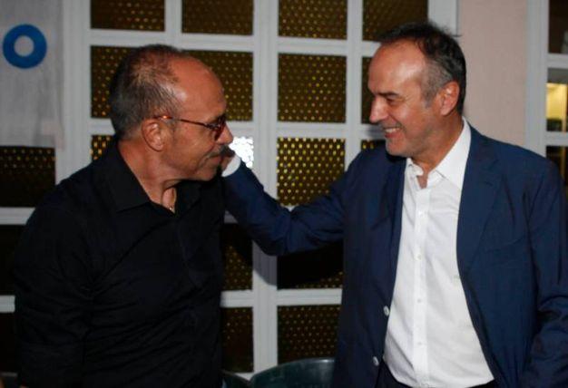 Gli eroi dell'82 Franco Causio e Antonio Cabrini alla serata finale del Carlino d'Oro (Foto Corelli)