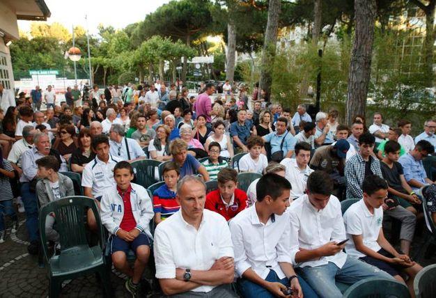 La platea del MarePineta Resort di Milano Marittima per le premiazioni del Carlino d'Oro (Foto Corelli)