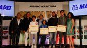 Carlino d'Oro 2016, i premiati di Pesaro: Mattia Mazzanti , Giorgio Marfella , Gabriele Carloni e Marco Ceccarini (foto Corelli)