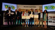 Carlino d'Oro 2016, i premiati di Rovigo - Modena: Andrea Mazzoli , Lorenzo Orsini, Matteo Bonfiglioli  e Andrea Allegra (foto Corelli)