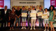 Carlino d'Oro 2016, i premiati di Rovigo: Michael Marchesini, Filippo Grigolo, Marria Rosini e Gianluca Marchesini (foto Corelli)