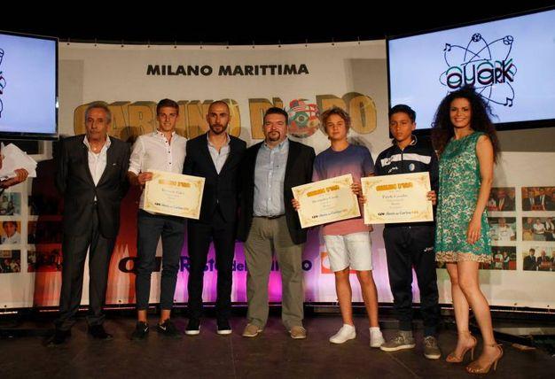 Carlino d'Oro 2016, i premiati di Rimini  Riccardo Fulvi, Matteo Sirena e Patick Casadio (foto Corelli)