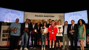 Carlino d'Oro 2016, i vincitori assoluti  Diego Santaniello, Nicolas Rango, Elena Prinzivalli e Luca Mercuriali (foto Corelli)