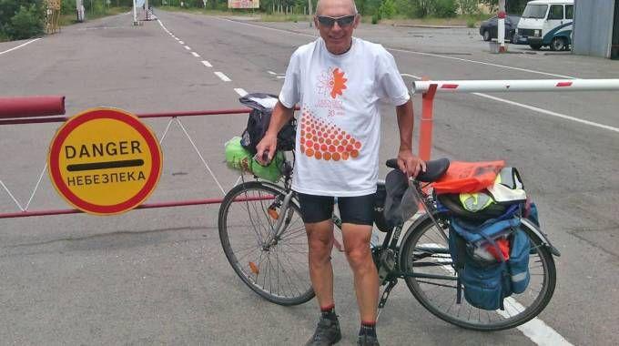 """Da Pavia fino a Kiev in bicicletta: """"Quante zone spopolate"""""""
