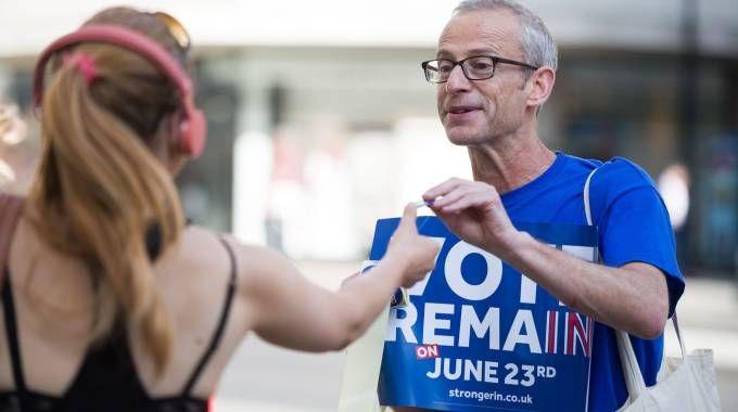 Londra, la campagna per il No alla Brexit (Afp)