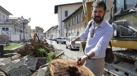 L'assessore all'ambiente Filippo Alessi in San Niccolò