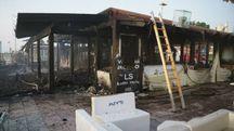 Porto Sant'Elpidio, lo Chalet Moyto distrutto dall'incendio (Zeppilli)