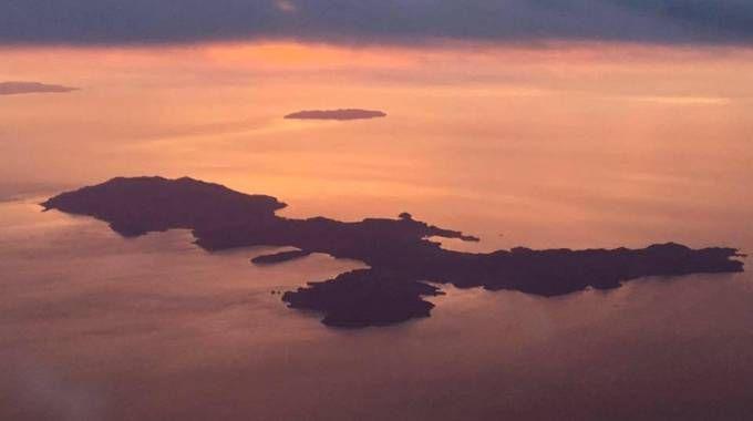 L'isola d'Elba vista dall'alto