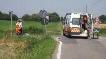 Incidente a Massa Lombarda, i soccorsi e i rilievi (foto Scardovi)
