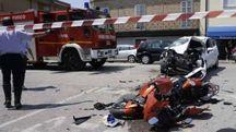 Porto Sant'Elpidio, incidente sulla Statale 16: ferito un motociclista (Foto Zeppilli)