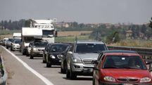 Traffico sulla Siena-Grosseto (Foto Paolo Lazzeroni)