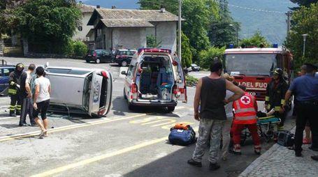 L'incidente a Castione Andevenno