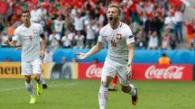 Błaszczykowski esulta per il gol contro la Svizzera