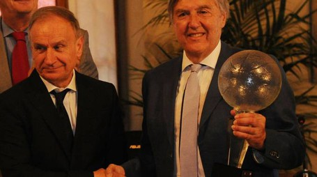 Il presidente del Coni Gianni Petrucci con Guido Borghi