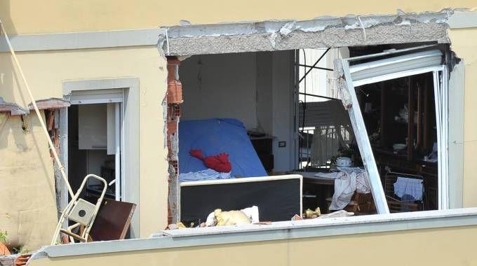 L'appartamento distrutto dei Pellicanò