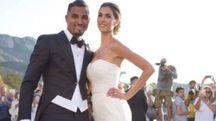Melissa Satta e Boateng sposi a Porto Cervo (Instagram)