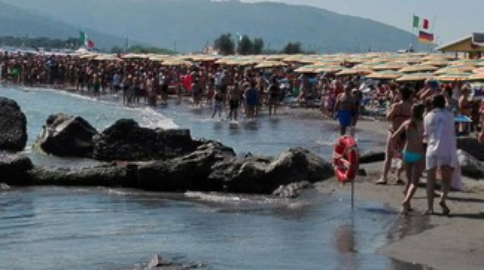 """C'è uno squalo in acqua"", fuggi fuggi in spiaggia a Marinella"