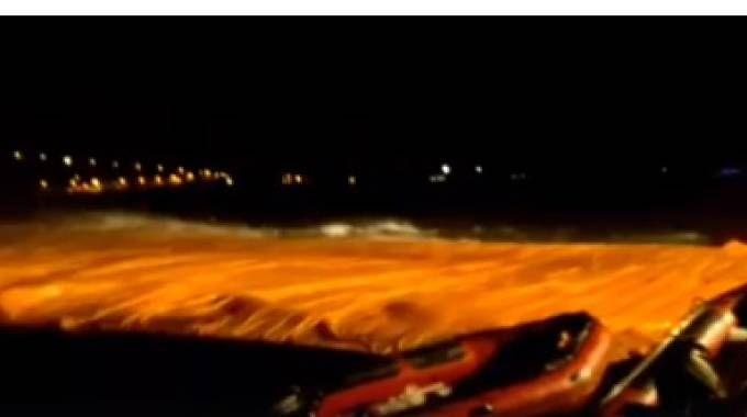 Maltempo sul ponte di Christo (dal video di Paolo Franceschetti)
