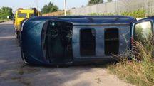 Incidente a Montegranaro sulla Mezzina (foto Girelli)