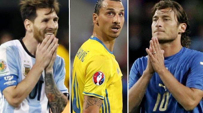 Messi, Ibrahimovic, Totti