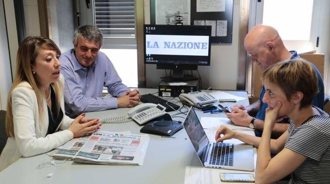 """Un momento del filo diretto alla """"Nazione"""" con l'avvocato Concettina Graziadio"""