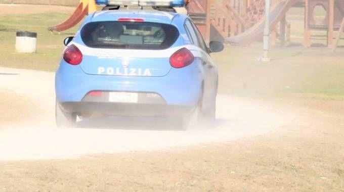 Una volante della polizia al parco di Serravalle