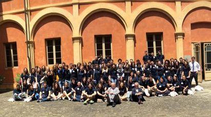 Gli studenti a San Miniato