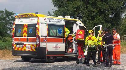 Gli operatori del soccorso in azione